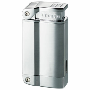 Зажигалка газовая Colibri 2240 Satin Silver & Polished Silver
