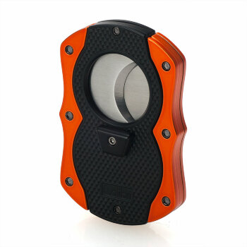 Гильотина для сигар Colibri Monza Matte Black and Anodized Orange CB CU-200T004