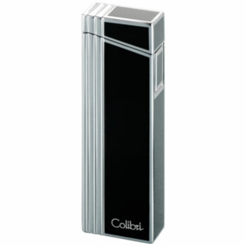 Зажигалка газовая Colibri Alias Grey Stripe & Polished Silver