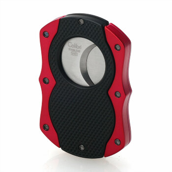 Гильотина для сигар Colibri Monza Matte Black and Anodized Red CB CU-200T003