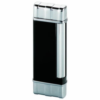 Зажигалка газовая Colibri Regal Black Lacquer w & Chrome