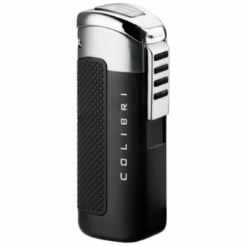 Зажигалка газовая Colibri Flare Matt Black & Polished Silver