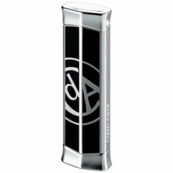 Зажигалка газовая Caran d'Ache CD 02 Rhodium w & Caran d` Ache Logo Black, CD02-2006