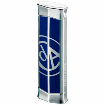Зажигалка газовая Caran d'Ache CD 02 Rhodium w & Caran d` Ache Logo Blue, CD02-2007