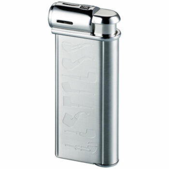 Зажигалка газовая Sarome PSP Silver Super Satin with Pipe Designs
