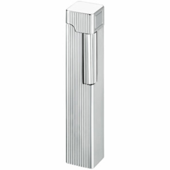 Зажигалка газовая Windmill Square Dia Silver Vertical Lines