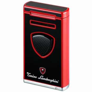 Зажигалка газовая Tonino Lamborghini Pergusa (MFH-307) Black with Red