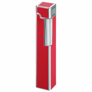 Зажигалка газовая Windmill Square Dia Silver Red Lacquer