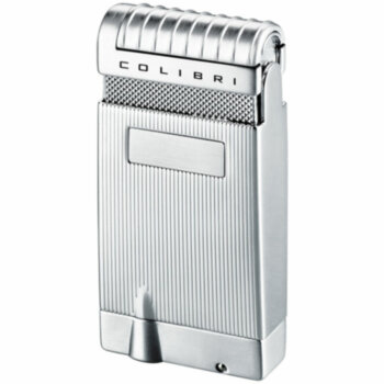 Зажигалка газовая Colibri Slide Satin Silver & Polished Silver